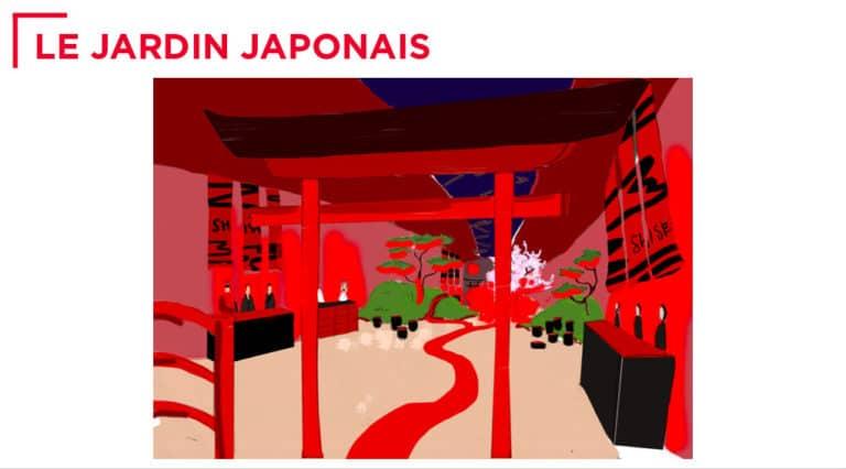dessin arche japonaise rough evenementiel