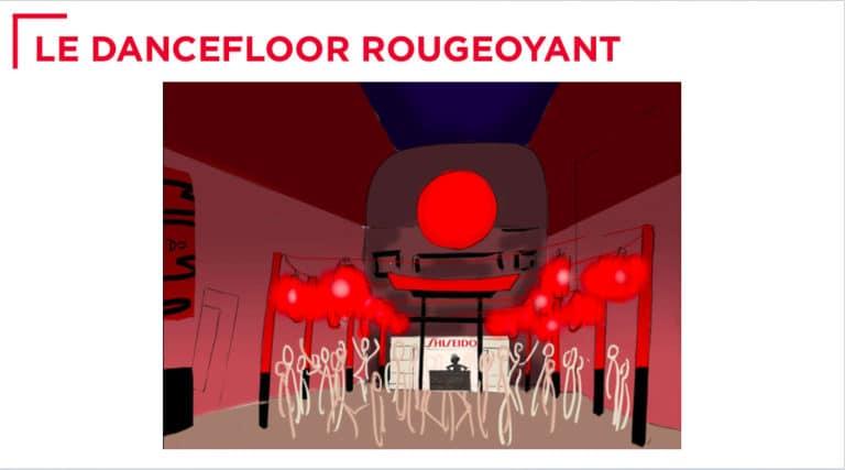dessin dancefloor theme japon rough evenementiel