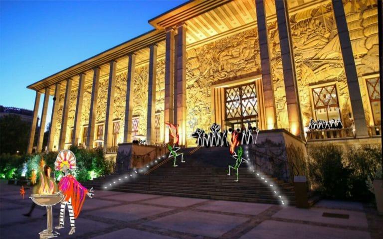 dessin exterieur palais de la porte doree rough evenementiel