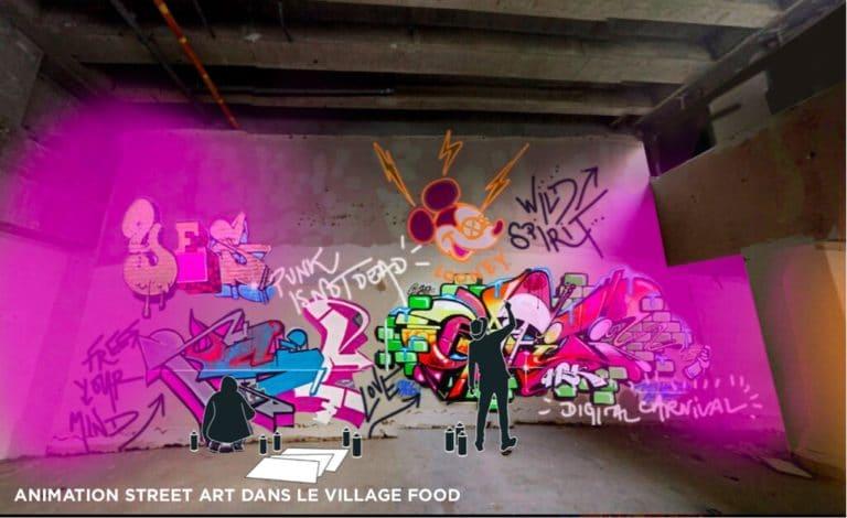 dessin fresque street art banque abandonnee rough evenementiel