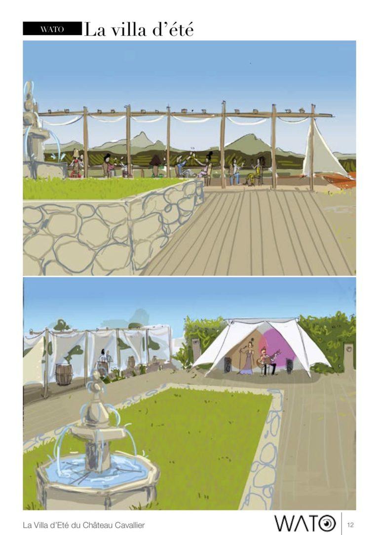dessin interieur structure evenementiel