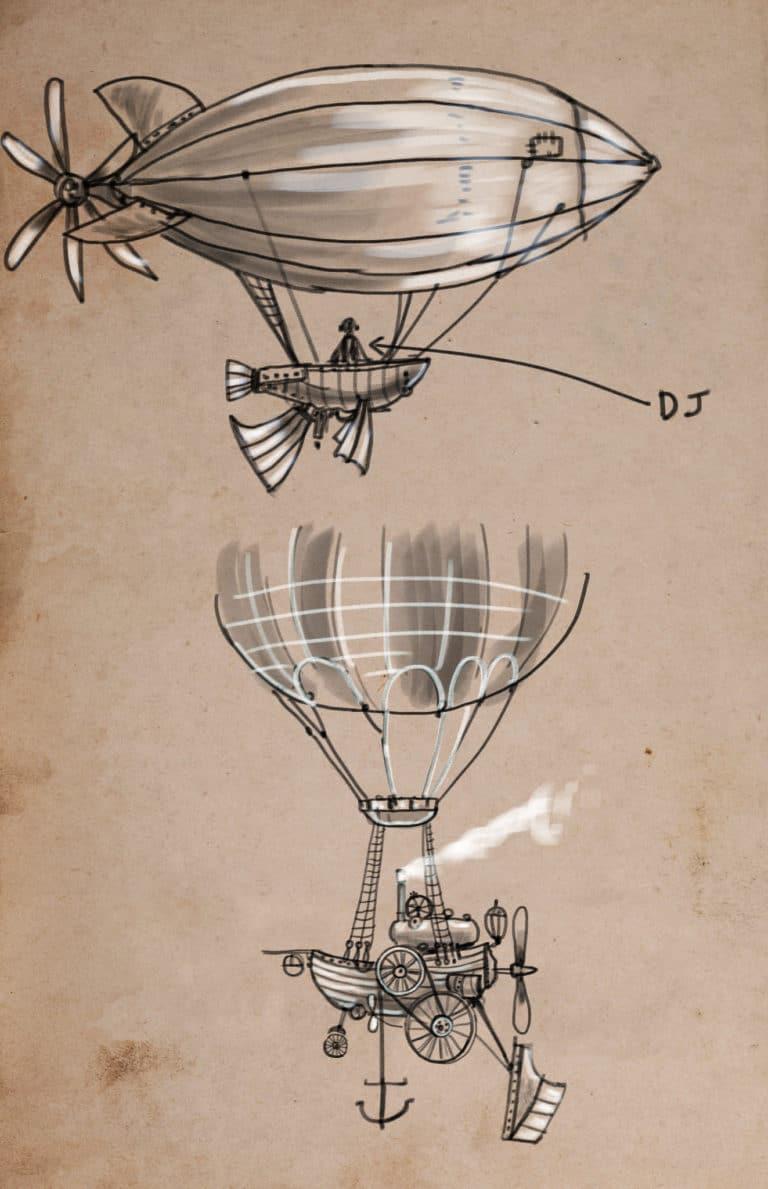 dessin mongolfiere helice rough evenementiel
