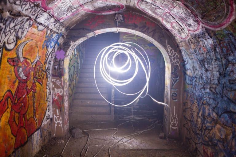 salle PTT catacombes light painting bunker paris