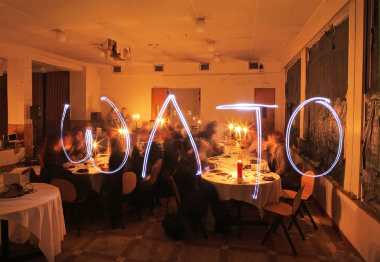Agence WATO light painting diner secret ENS Saint Cloud