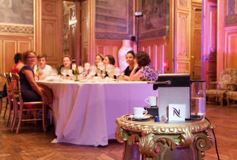 machine a café nespresso traiteur food diners volants my little paris agence wato we are the oracle evenementiel events