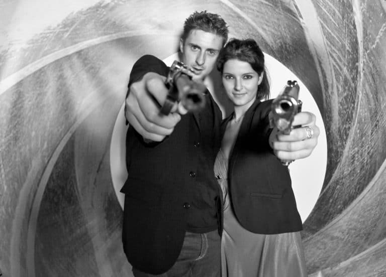 photocall james bond evenementiel guns pistolets
