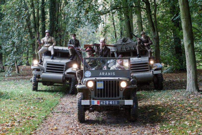 soldats-français-acteurs-blindés-jeep-véhicule-militaire-seconde-guerre-mondiale-France-teaser-video-Victorious-Shelter-agence-wato-we-are-the-oracle-evenementiel-event