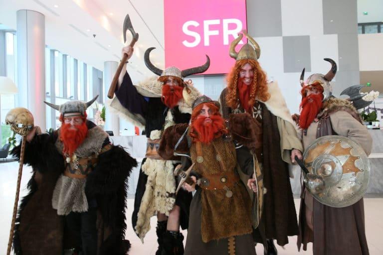 horde de vikings chez SFR journees guerrieres brand content
