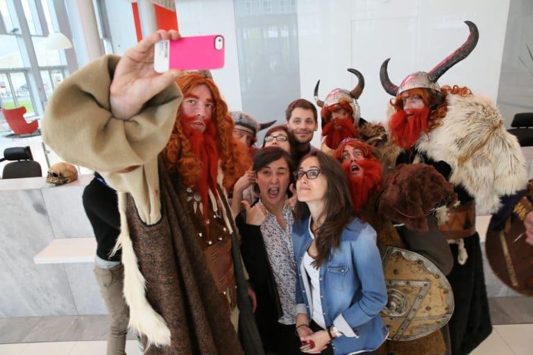 selfie vikings journees guerrieres