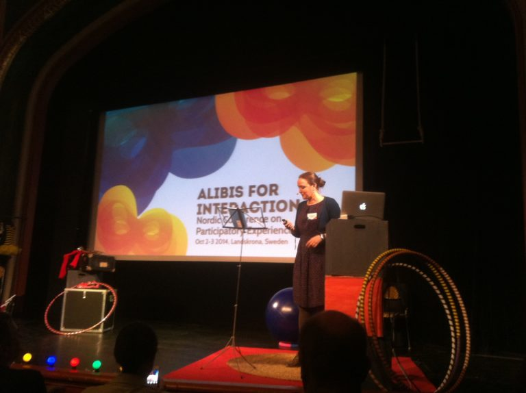 Speaker Conference alibis for interaction