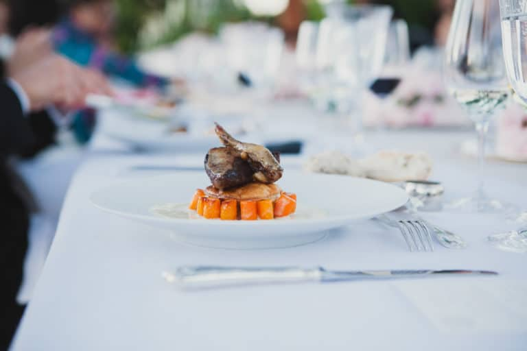 plat présentation traiteur food la canopée castel diner d'exception agence wato we are the oracle evenementiel events
