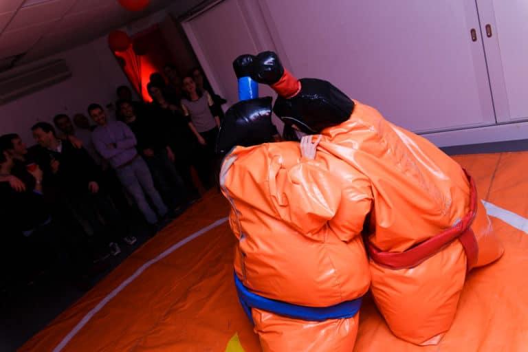 combats de sumos thème japon ancien bureaux abandonnés 15 ans Price Minister Rakuten agence wato we are the oracle evenementiel events