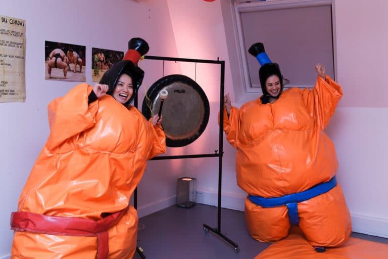 gong combats de sumos thème japon ancien bureaux abandonnés 15 ans Price Minister Rakuten agence wato we are the oracle evenementiel events