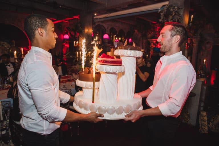 birthday cake gateaux anniversaire traiteur food drinks loft paolo calia les frigos agence wato we are the oracle evenementiel event