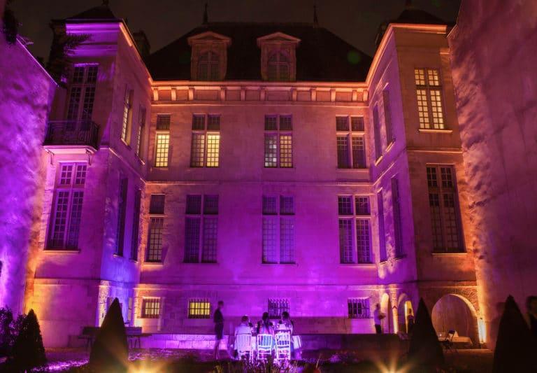 éclairage événementiel jardin Musée Cognacq Jay Paris France diner volants My little Paris agence wato we are the oracle evenementiel events