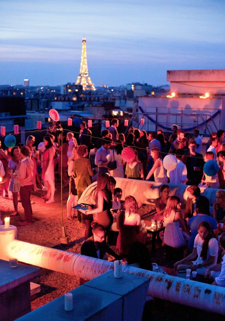 Soiree rooftop paris 14 juillet vue imprenable tour eiffel toit ancien hopital Saint-Michel urbex thème fête nationale 14 juillet 2013 agence wato we are the oracle evenementiel events