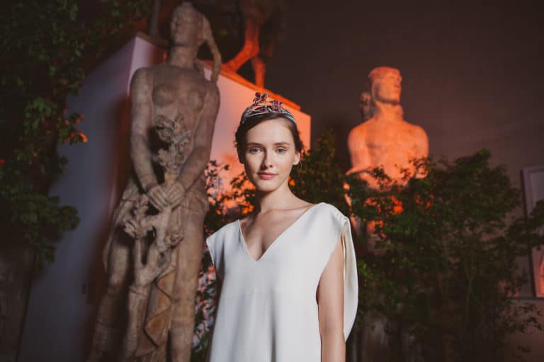 Aneta Zeta Aneta Z mannequin diadème bijoux statue musee bourdelle paris france evenement sur mesure soiree presse chaumet joaillerie groupe lvmh agence wato we are the oracle evenementiel event