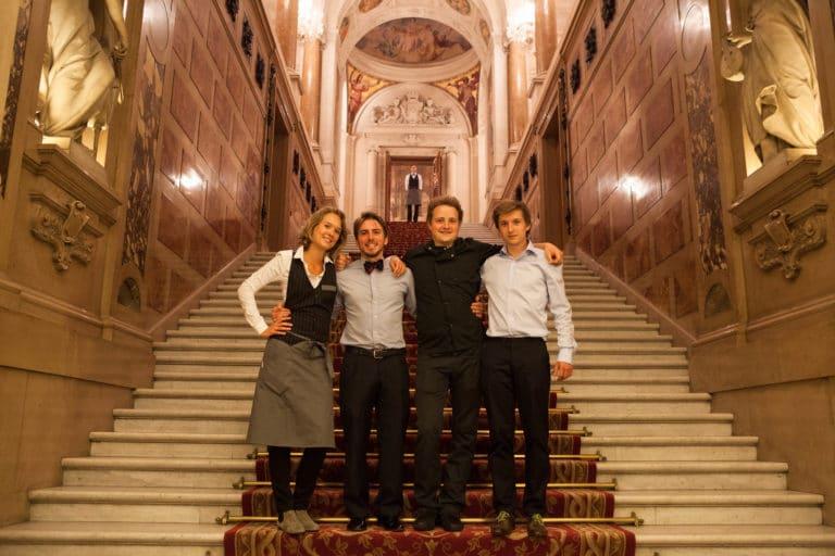 Foulques Jubert Iris de Rode escalier Hotel de ville de Paris France diner volants My Little Paris x Mairie de Paris agence wato we are the oracle evenementiel events