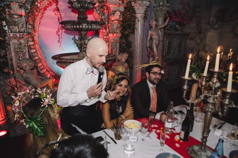 acteur discours table diner exceptionnel aux chandelles loft baroque paolo calia anniversaire milliardaire indien agence wato we are the oracle evenementiel events