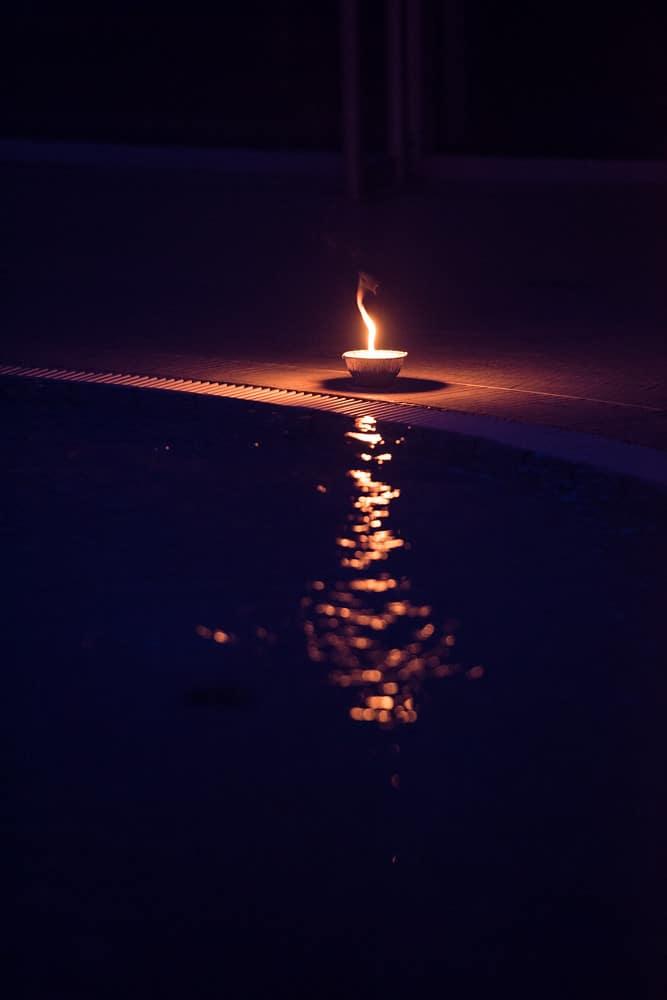 bougies flamme reflet eau piscine pailleron espace sportif pailleron paris france teaser underwater 3 agence wato we are the oracle evenementiel events
