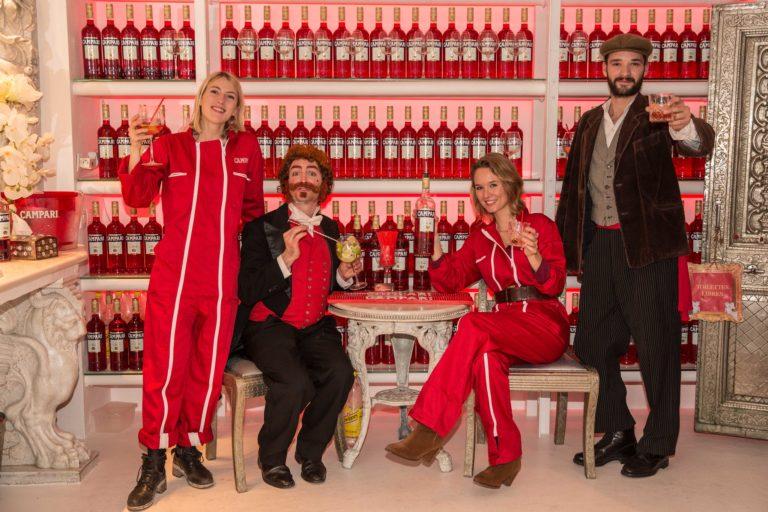 colombine jubert foulques bouteilles campari loft baroque paolo calia paris france evenement campari secret factory agence wato we are the oracle evenementiel events