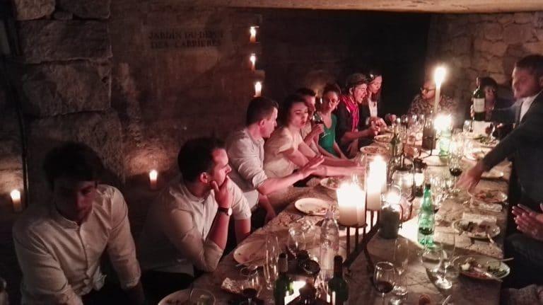 diner aux chandelles diner exceptionnel dans les catacombes evenement sur mesure lieu insolite ideuzo client leboncoin agence wato we are the oracle evenementiel events