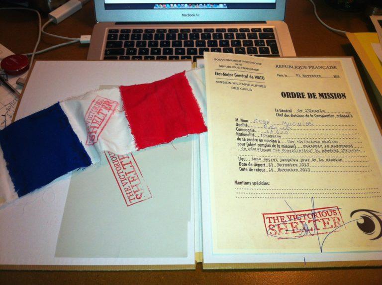 document confidentiel top secret drapeaux france Abri Lefebvre abri anti atomique paris 15 e arrondissement France Victorious Shelter agence wato we are the oracle evenementiel events