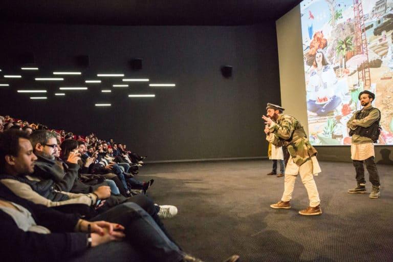 happening taliban acteurs cinema pathe beaugrenelle paris lancement de produit serie kaboul kitchen saison 3 canal + agence wato we are the oracle evenementiel events