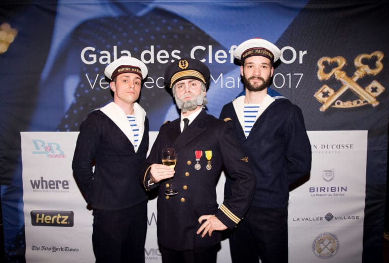 foulques jubert commandant louis-marie rohr marin photocall titanic paris france evenement sur mesure gala annuel les clefs d or agence wato we are the oracle evenementielle