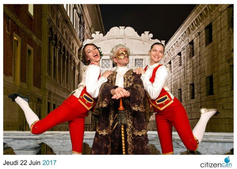 foulques jubert doge costume amelia feuer chanteuse d'opéra photocall fond vert venitien citizen can agence wato evenementiel events