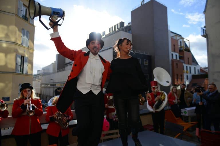 foulques jubert terrasse bva group fanfare trombone musique bus imperial bus anglais paris france evenement sur mesure teaser bva circus agence wato we are the oracle evenementiel event
