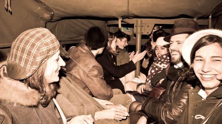 invités soldats blindé jeep véhicules militaires seconde guerre mondiale France soirée exceptionnelle Victorious Shelter agence wato we are the oracle evenementiel events