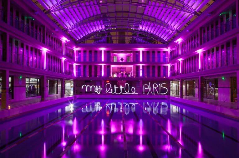 lightpainting Piscine Pailleron Espace Sportif Pailleron Paris France diner volants My Little Paris agence wato we are the oracle evnementiel events
