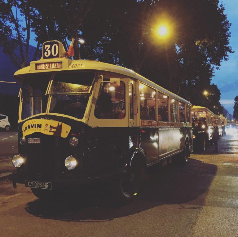 bus de collection ancien bus des années 30 insolite transport ancien porte de versailles soirée corporate voyage prive agence wato we are the oracle evenementiel events