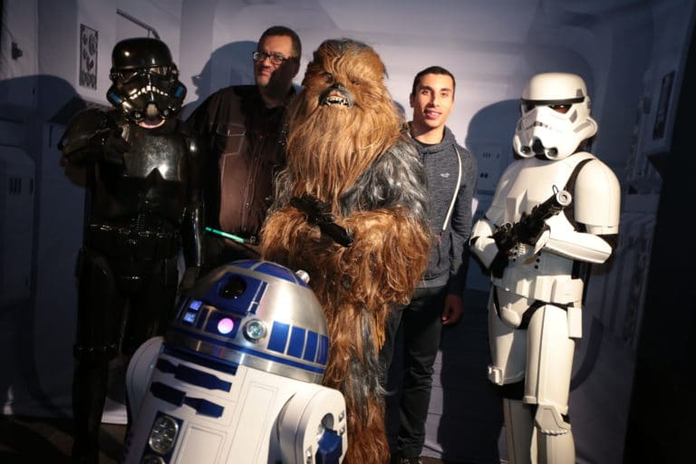 photocall star wars r2d2 dark vador chewbaka stormtroopers star wars paris france theme dark vador evenement sur mesure icdc agence wato we are the oracle evenementielle events