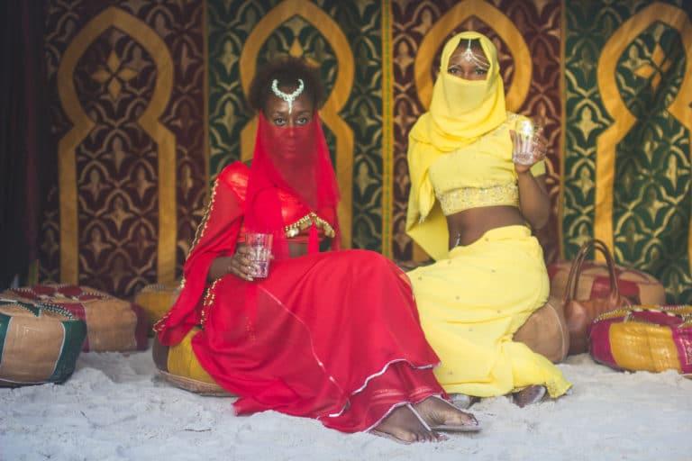 princesses arabes verre de thé scénographie sur mesure espace glisse paris 18 skatepark municipale serment d'alcazar evenement public agence wato we are the oracle evenementiel events