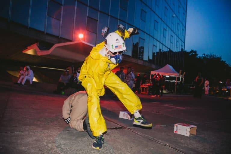 saute mouton test physique siege du pcf dome du pcf soiree dansante zemixx 600 scenographie sur mesure joachim garaud agence wato we are the oracle evenementiel events