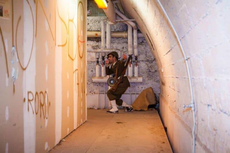 soldat seconde guerre mondiale bunker Abri Lefebvre anti atomique paris 15 e arrondissement France soirée exceptionnelle Victorious Shelter agence wato we are the oracle evenementiel events