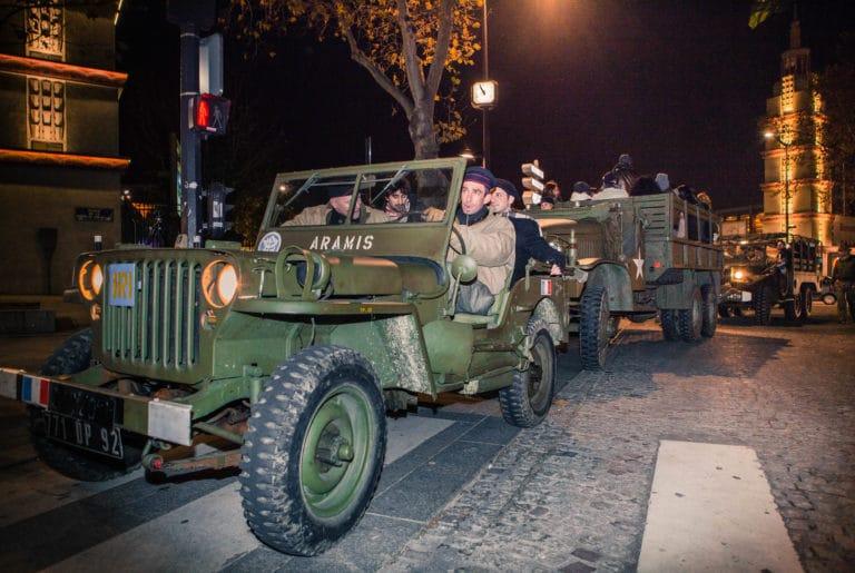 soldats blindé jeep véhicules militaires seconde guerre mondiale France soirée exceptionnelle Victorious Shelter agence wato we are the oracle evenementiel events
