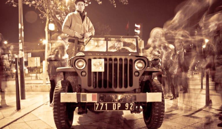 soldats blindé jeep véhicules militaires seconde guerre mondiale Paris France soirée exceptionnelle Victorious Shelter agence wato we are the oracle evenementiel event