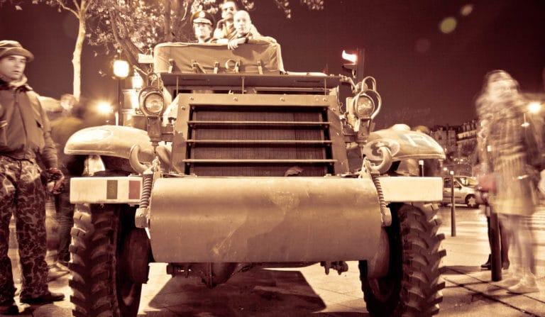 soldats blindé jeep véhicules militaires seconde guerre mondiale insolite Paris France soirée exceptionnelle Victorious Shelter agence wato we are the oracle evenementiel events
