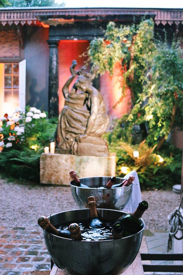 champagne fleur floriste décoration ortensia cours intérieure musee bourdelle paris france evenement sur mesure soiree presse chaumet haute joaillerie groupe lvmh agence wato we are the oracle events