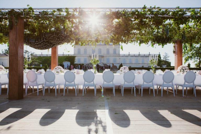 table decor vegétal art de la table canopée castel dîner de prestige chateau Barreyres haut-médoc france groupe castelagence wato we are the oracle evenementiel event