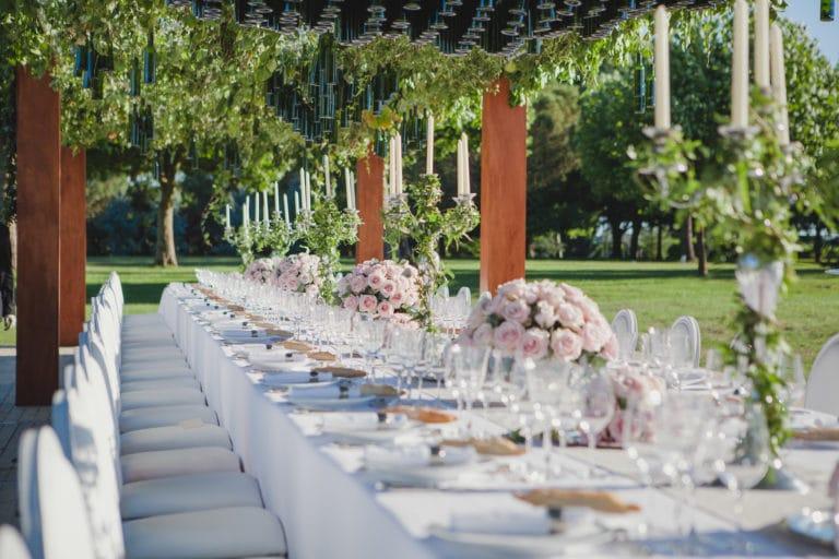 table decor vegetal art de la table canopée castel dîner de prestige chateau Barreyres haut-médoc france groupe castelagence wato we are the oracle evenementiel events