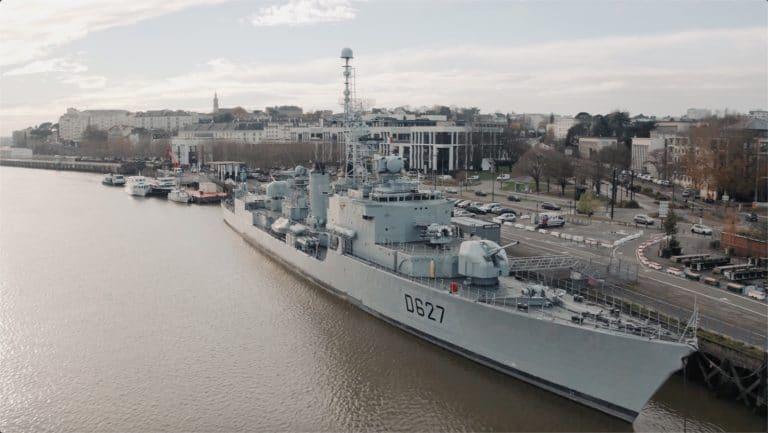 Maille Breze Nantes bateau de guerre vue drone agence WATO evenementiel