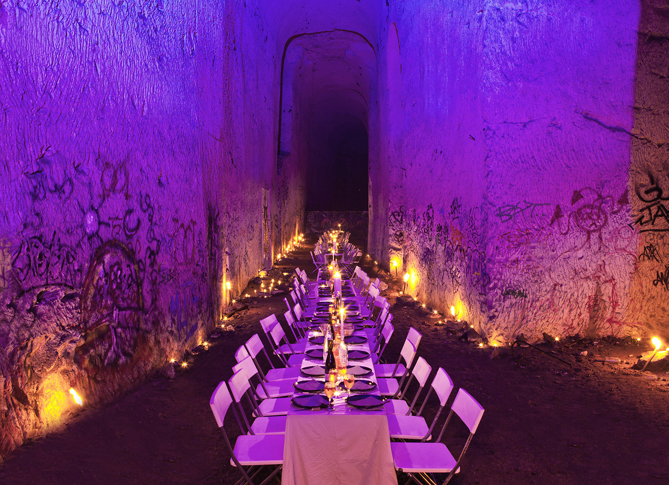 WATO : A mystical dinner in a spectacular chalk mine : The Hidden Temple