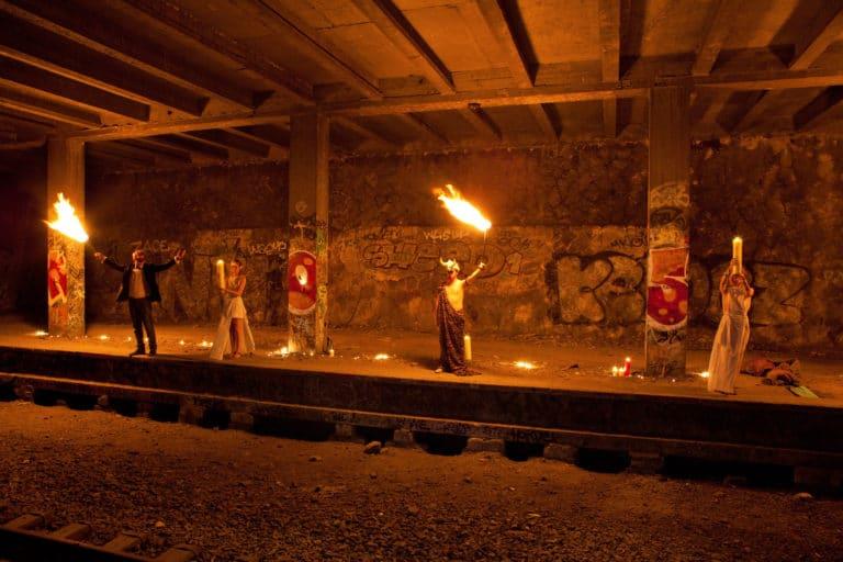 happening urbex petite ceinture ancienne gare de Montrouge Paris france soirée publique WATO The Urban Tribe Dinner agence wato we are the oracle evenementiel event