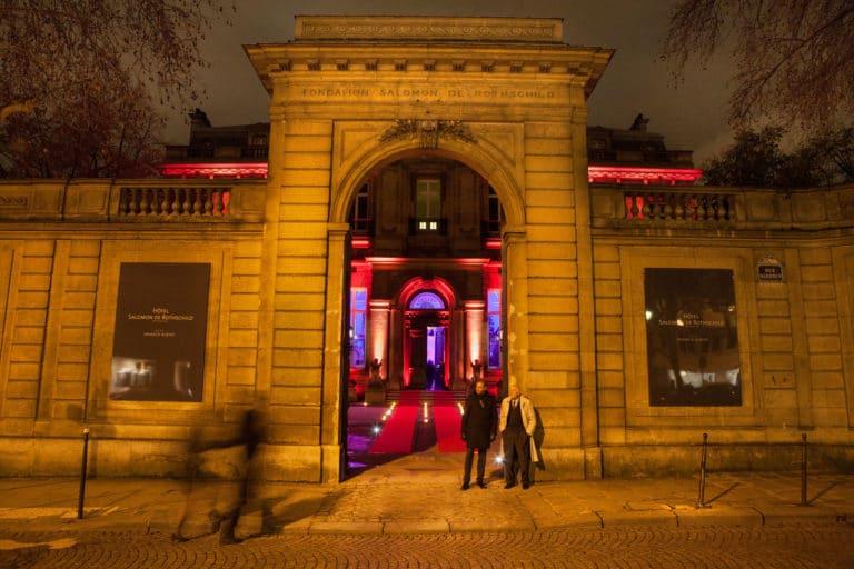 portail entrée éclairage événementiel tapis rouge bougies hotel Salomon de Rotchield hotel particulier paris france agence wato we are the oracle evenementiel events