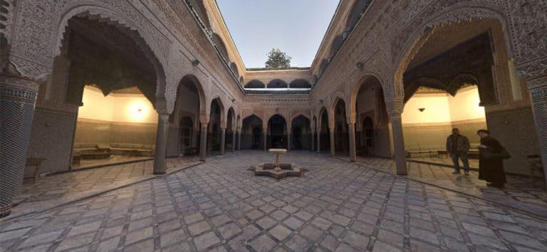 Riad-el-andalous-cour-interieure-ciel-ouvert-el-jadida-maroc palais Maroc