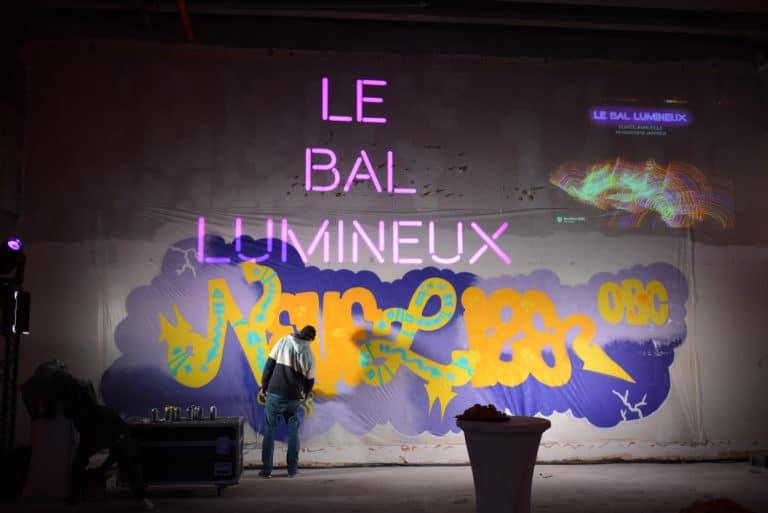gobo evenementiel street art graffitis artiste graffeur banque abandonnée lieu insolite scenographie sur mesure le bal lumineux soirée privé banque agence wato evenementiel event